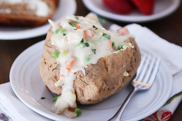 Chicken Pot Pie With Potato  Chicken Pot Pie Baked Potato