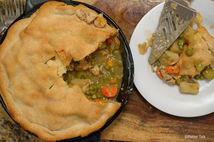 Chicken Pot Pie With Potato  Sweet Potato and Chicken Pot Pie Platter Talk