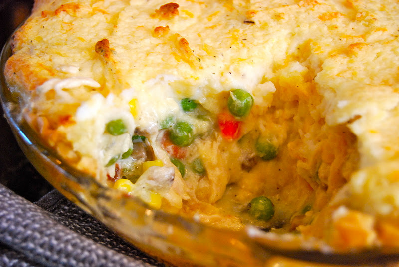 Chicken Pot Pie With Potato  Chicken Pot Pie with Mashed Potato Top