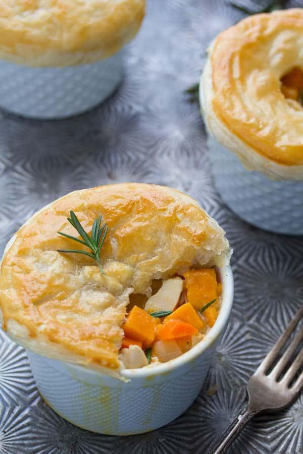 Chicken Pot Pie With Potato  Rosemary Sweet Potato Chicken Pot Pies