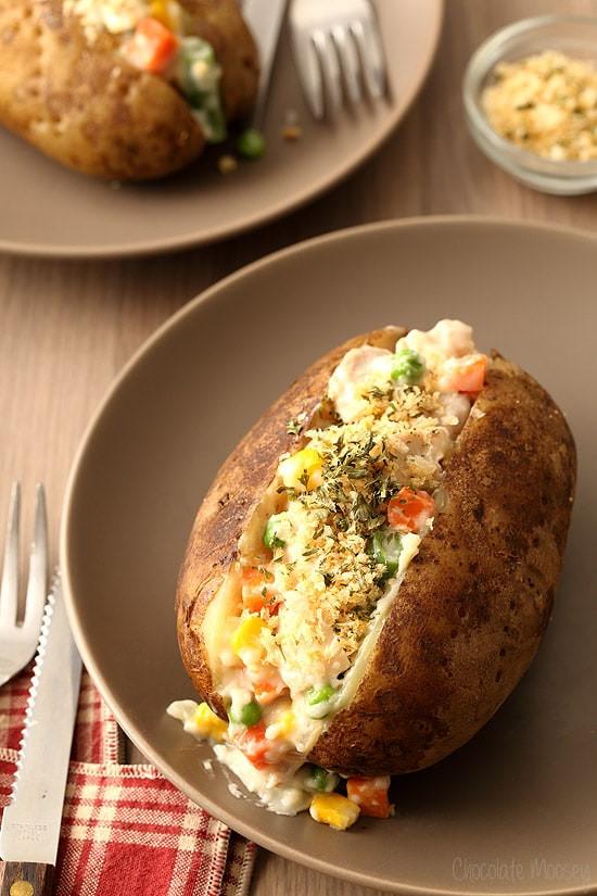 Chicken Pot Pie With Potato  Chicken Pot Pie Baked Potatoes