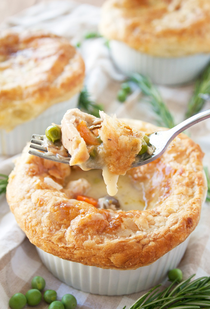 Chicken Pot Pie With Puff Pastry  40 Delicious Christmas Pie Recipes Christmas Celebration