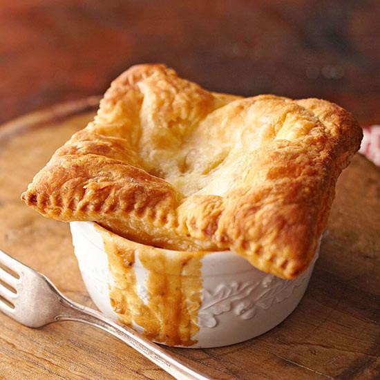 Chicken Pot Pie With Puff Pastry  Chicken Potpie in Puff Pastry