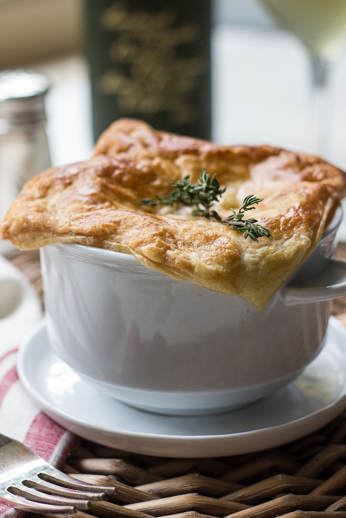 Chicken Pot Pie With Puff Pastry  Puff Pastry Topped Chicken Pot Pie