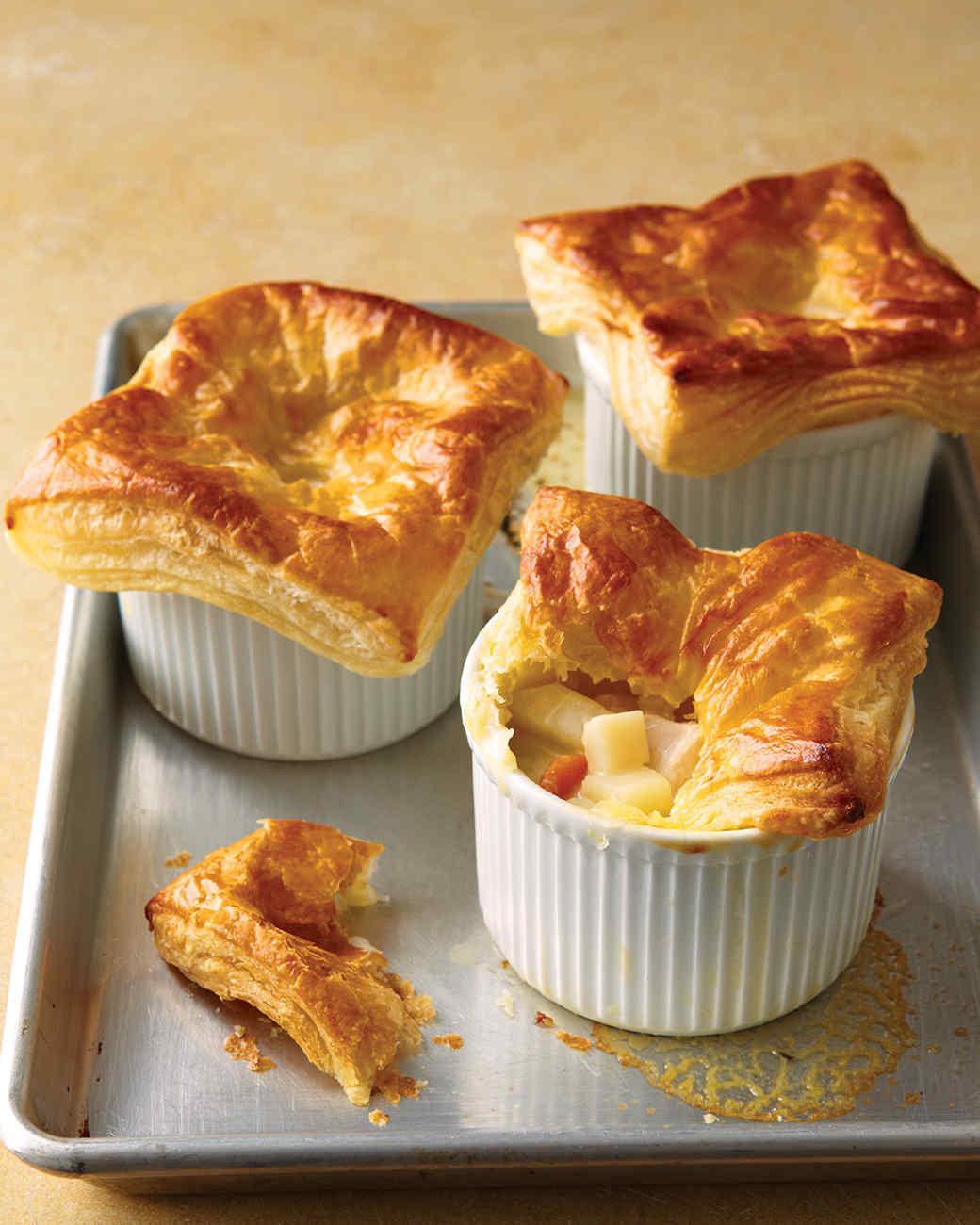 Chicken Pot Pie With Puff Pastry  Chicken Casserole and Potpie Recipes
