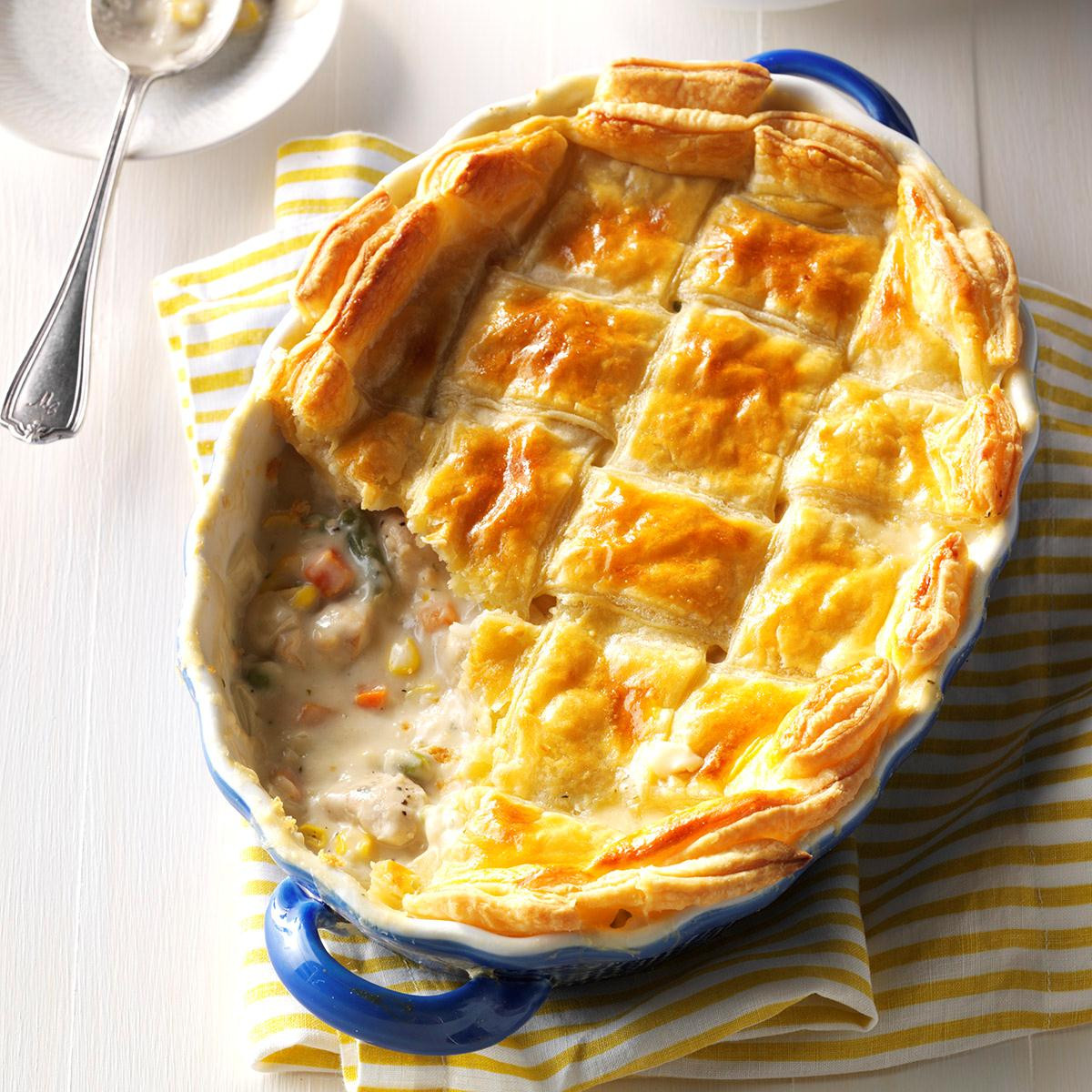 Chicken Pot Pie With Puff Pastry  Puff Pastry Chicken Potpie Recipe