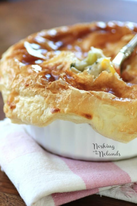 Chicken Pot Pie With Puff Pastry  Individual Puff Pastry Chicken Pot Pies