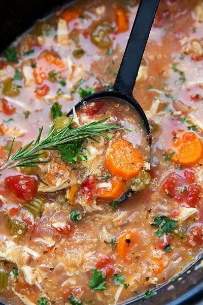 Chicken Quinoa Soup  Easy Crockpot Creamy Chicken Enchilada Chili