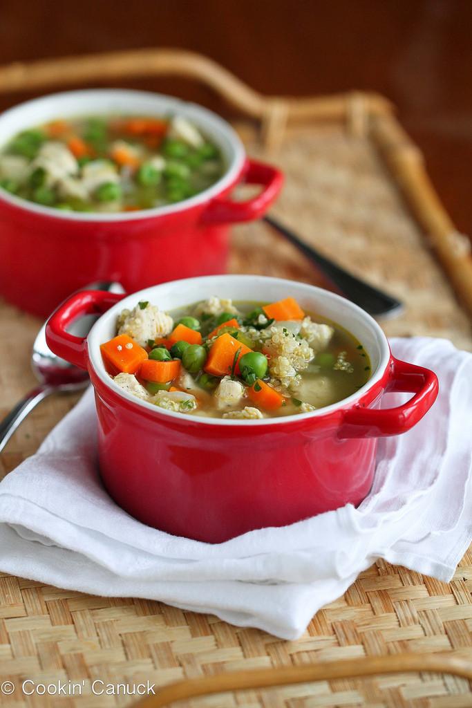 Chicken Quinoa Soup  Light Chicken Quinoa & Ve able Soup Recipe