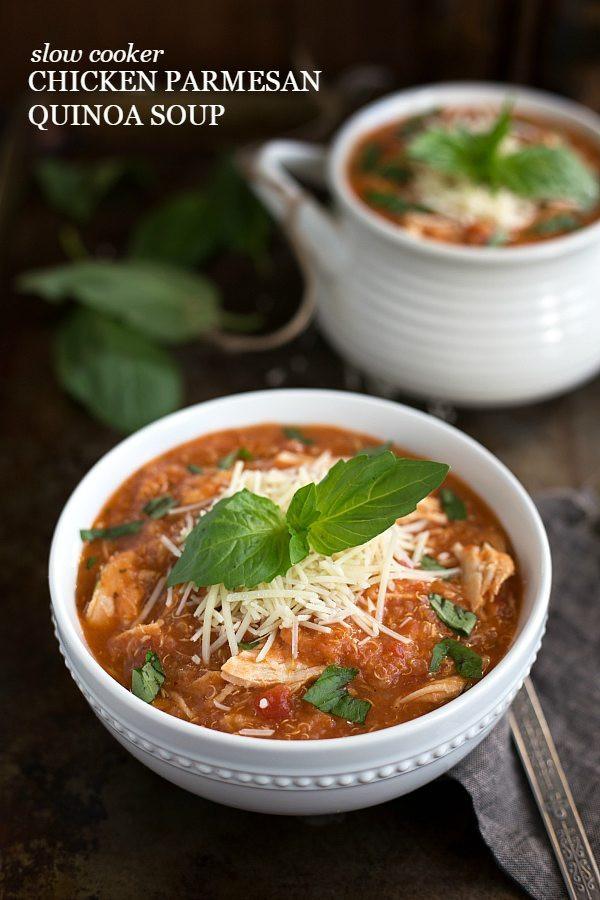 Chicken Quinoa Soup  Slow Cooker Quinoa Chicken Parmesan Soup Chelsea s