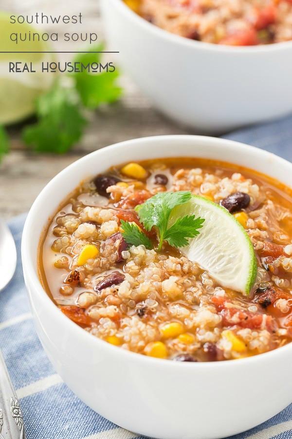 Chicken Quinoa Soup  Weekly Menu Plan 101