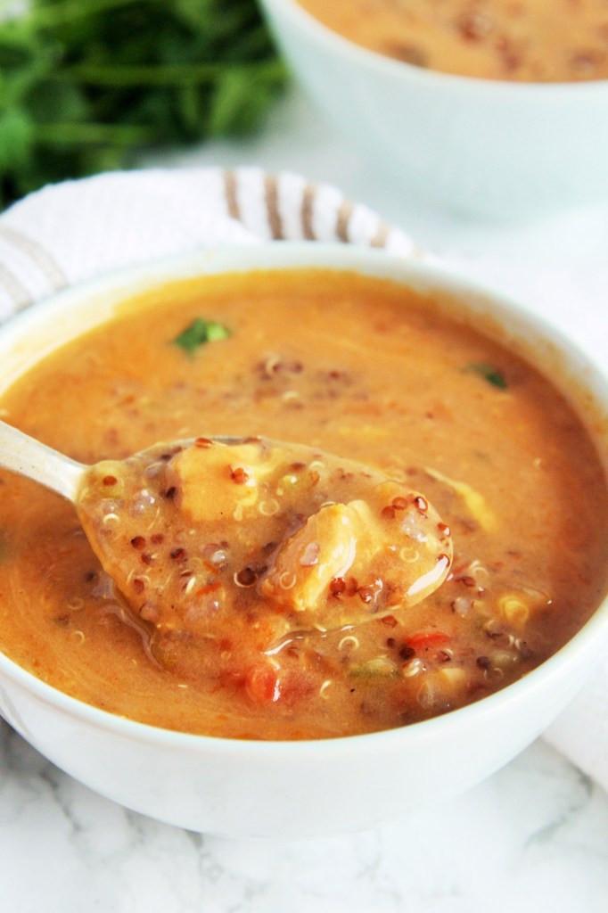 Chicken Quinoa Soup  Chicken Enchilada Quinoa Soup