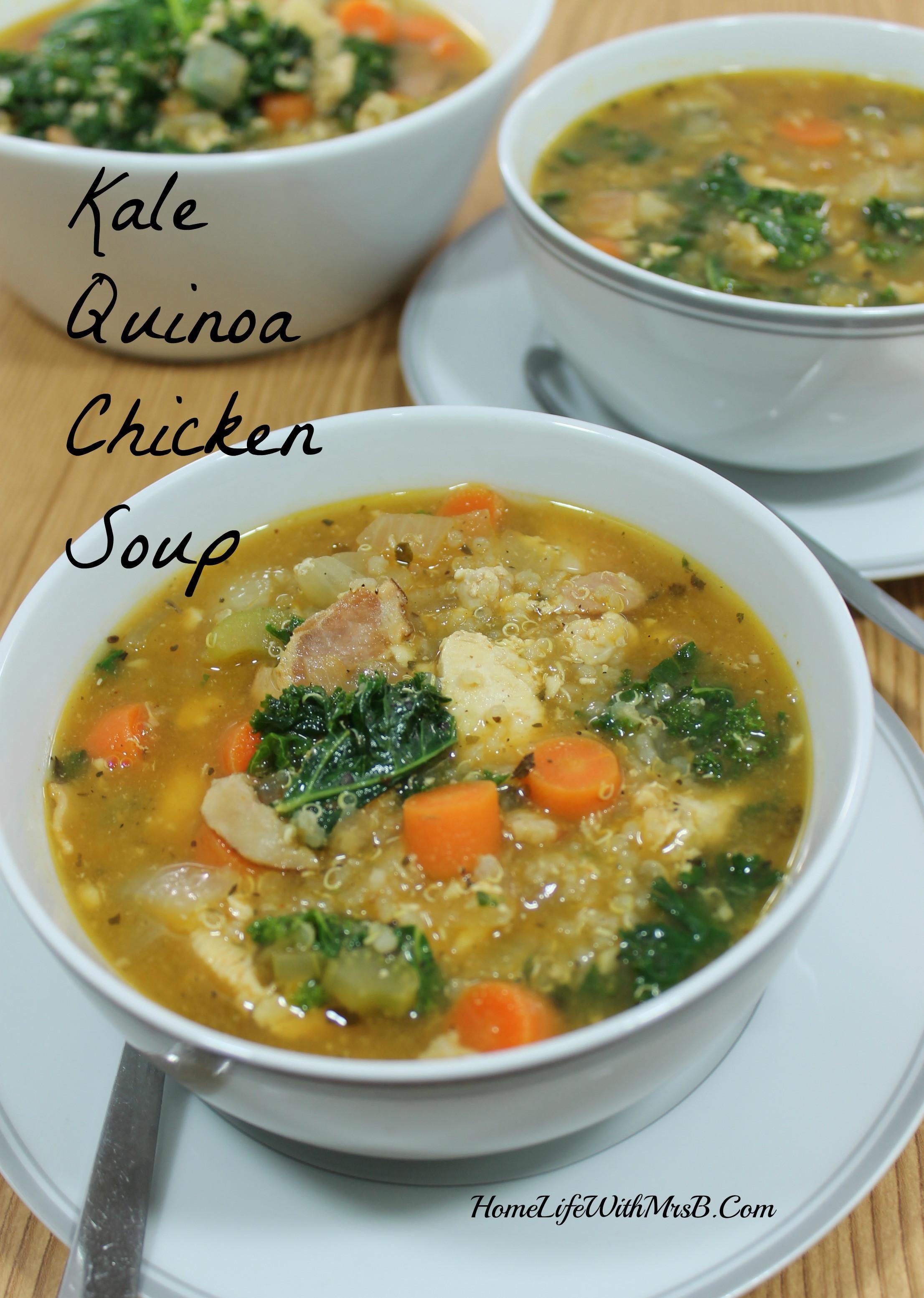 Chicken Quinoa Soup  Kale Quinoa Chicken Soup