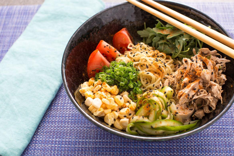 Chicken Ramen Noodles  Recipe Chicken Hiyashi Chuka with Fresh Ramen Noodles