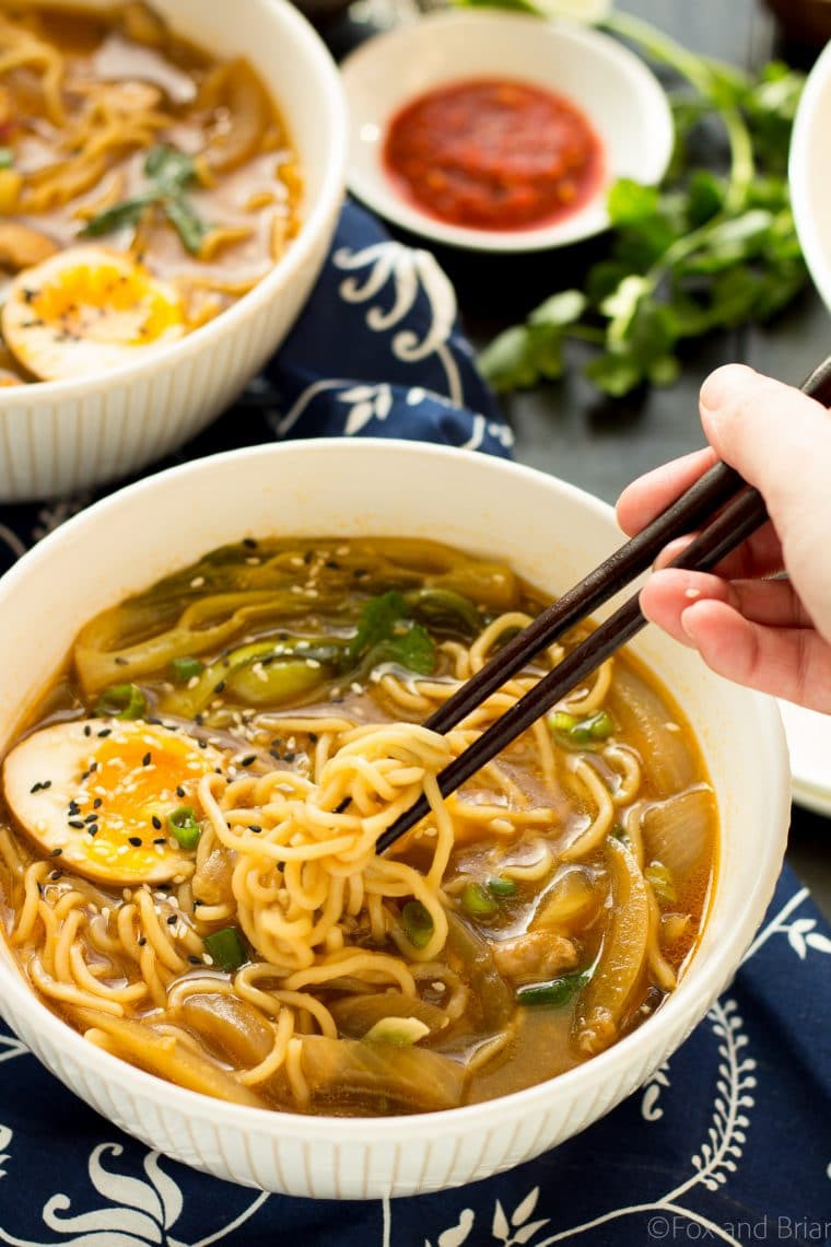 Chicken Ramen Noodles  Easy Chicken Ramen Fox and Briar