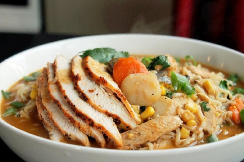Chicken Ramen Noodles  Roasted Chicken Ramen Noodle Soup Creole Contessa