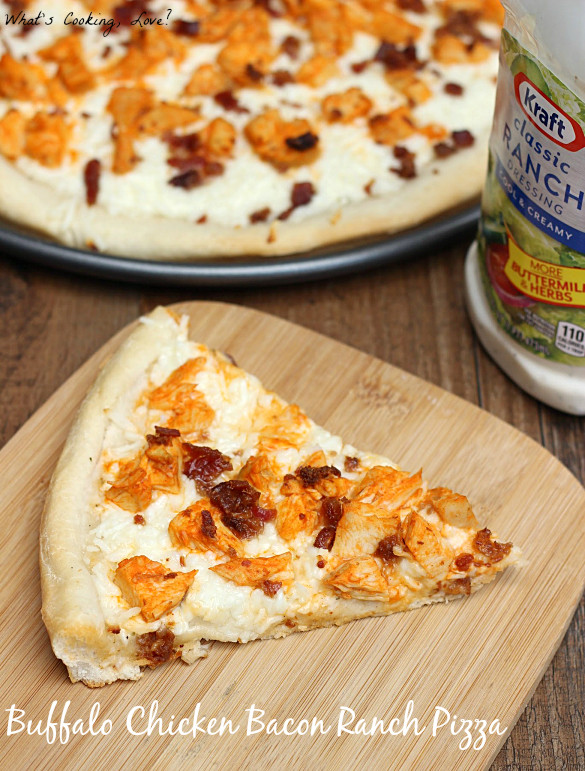Chicken Ranch Pizza  Buffalo Chicken Bacon Ranch Pizza Whats Cooking Love