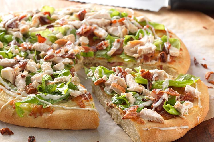 Chicken Ranch Pizza  Chicken Bacon Ranch Pizza Flourish King Arthur Flour