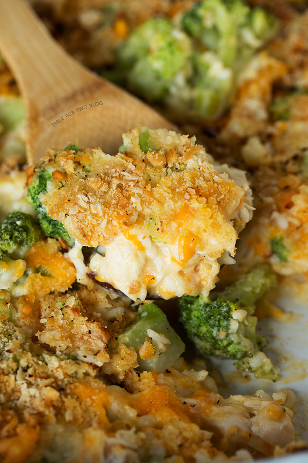 Chicken Rice Broccoli Casserole  Broccoli Rice and Chicken Casserole Make Ahead Baked