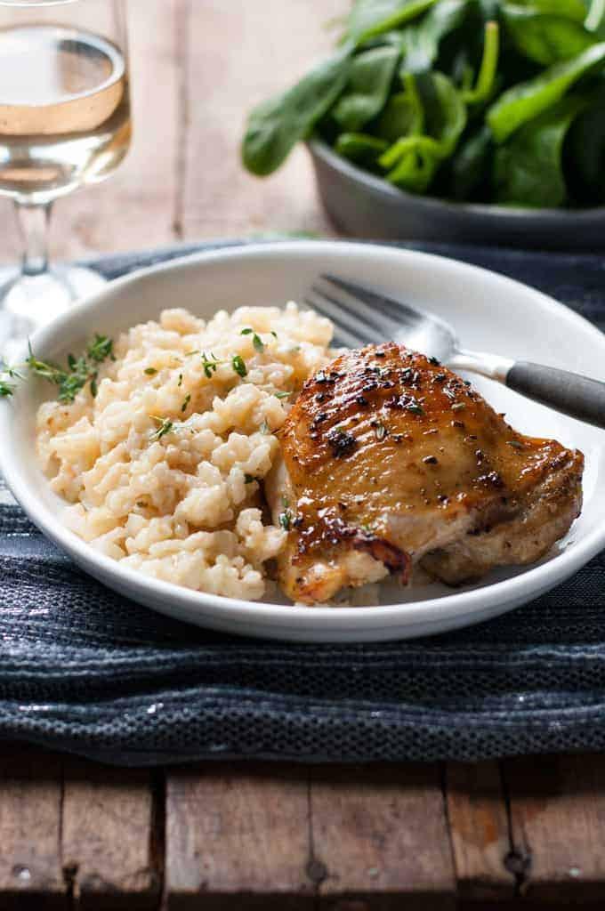 Chicken Risotto Recipes  e Pot Creamy Parmesan Garlic Risotto with Lemon Pepper