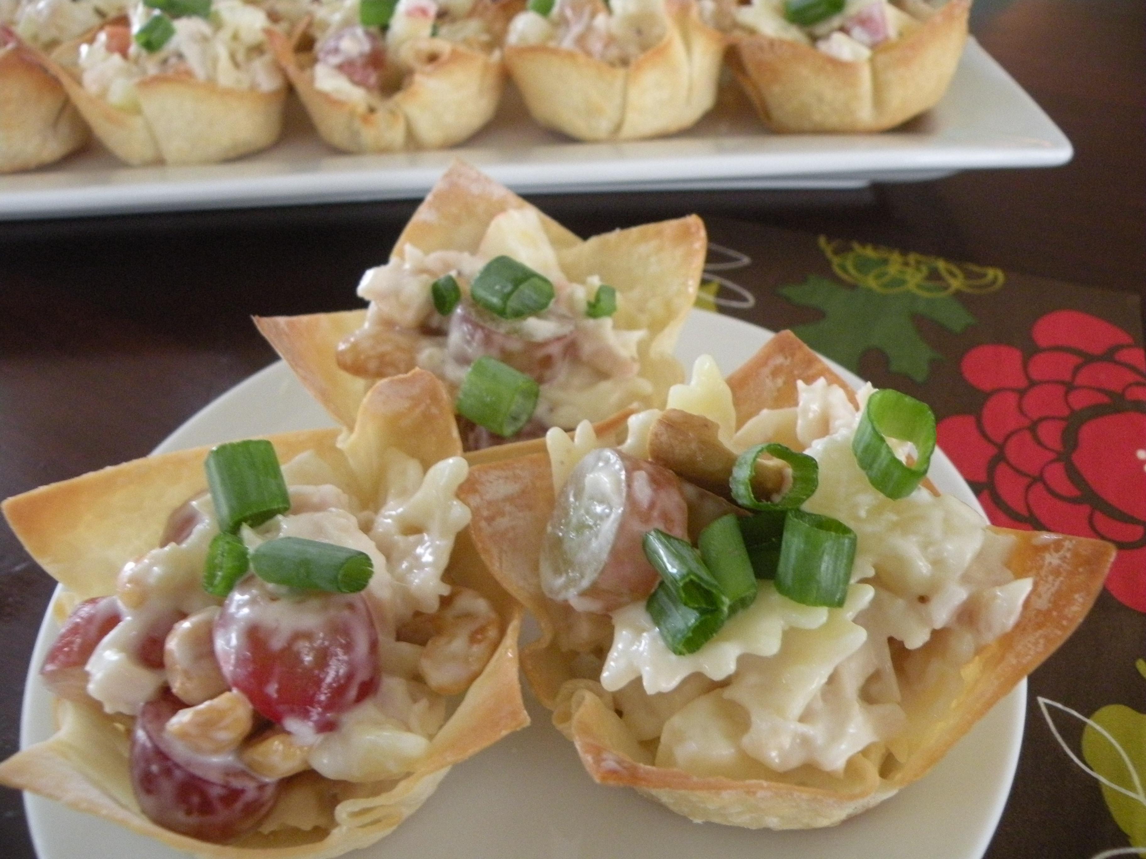 Chicken Salad Appetizer  Caramel Potatoes Chicken Salad Appetizer Cups