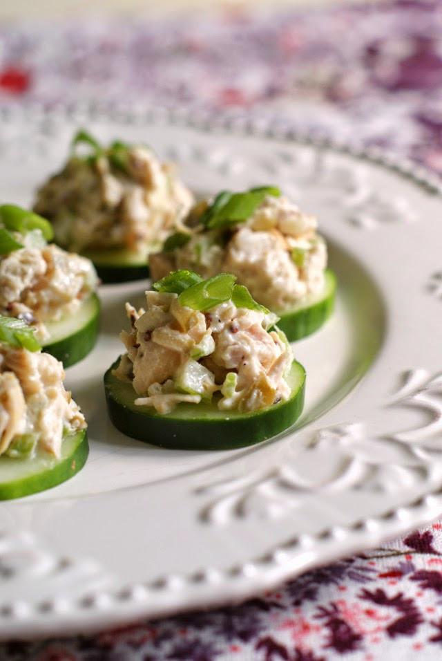 Chicken Salad Appetizer  Chicken Salad Cucumber Rounds