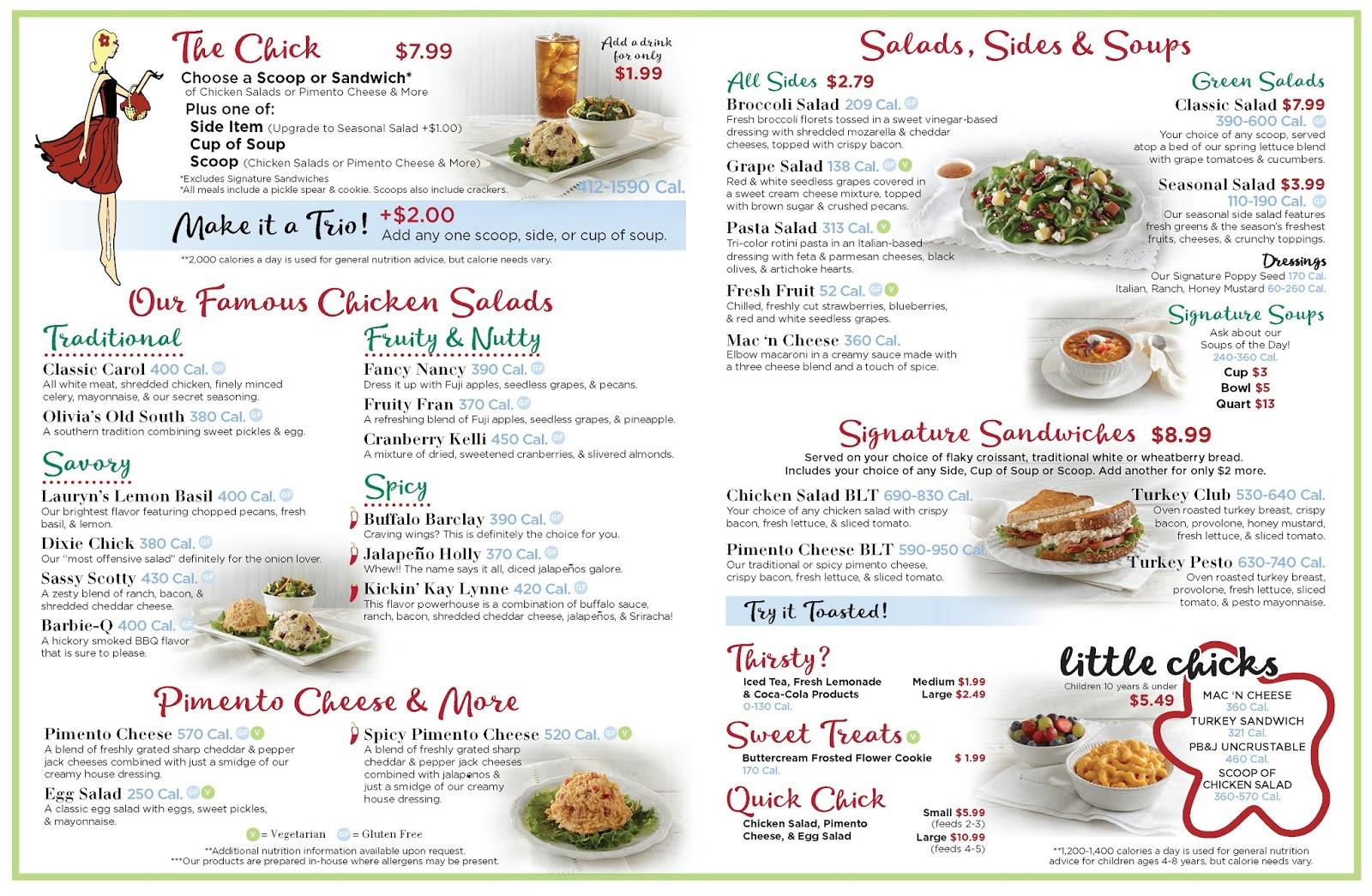 Chicken Salad Chick Menu  Ross Barnett Reservoir Chicken Salad Chick