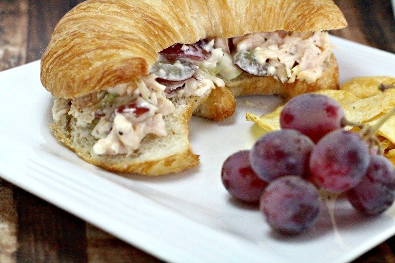 Chicken Salad Sandwich With Grapes  Chicken Salad Recipe with Grapes