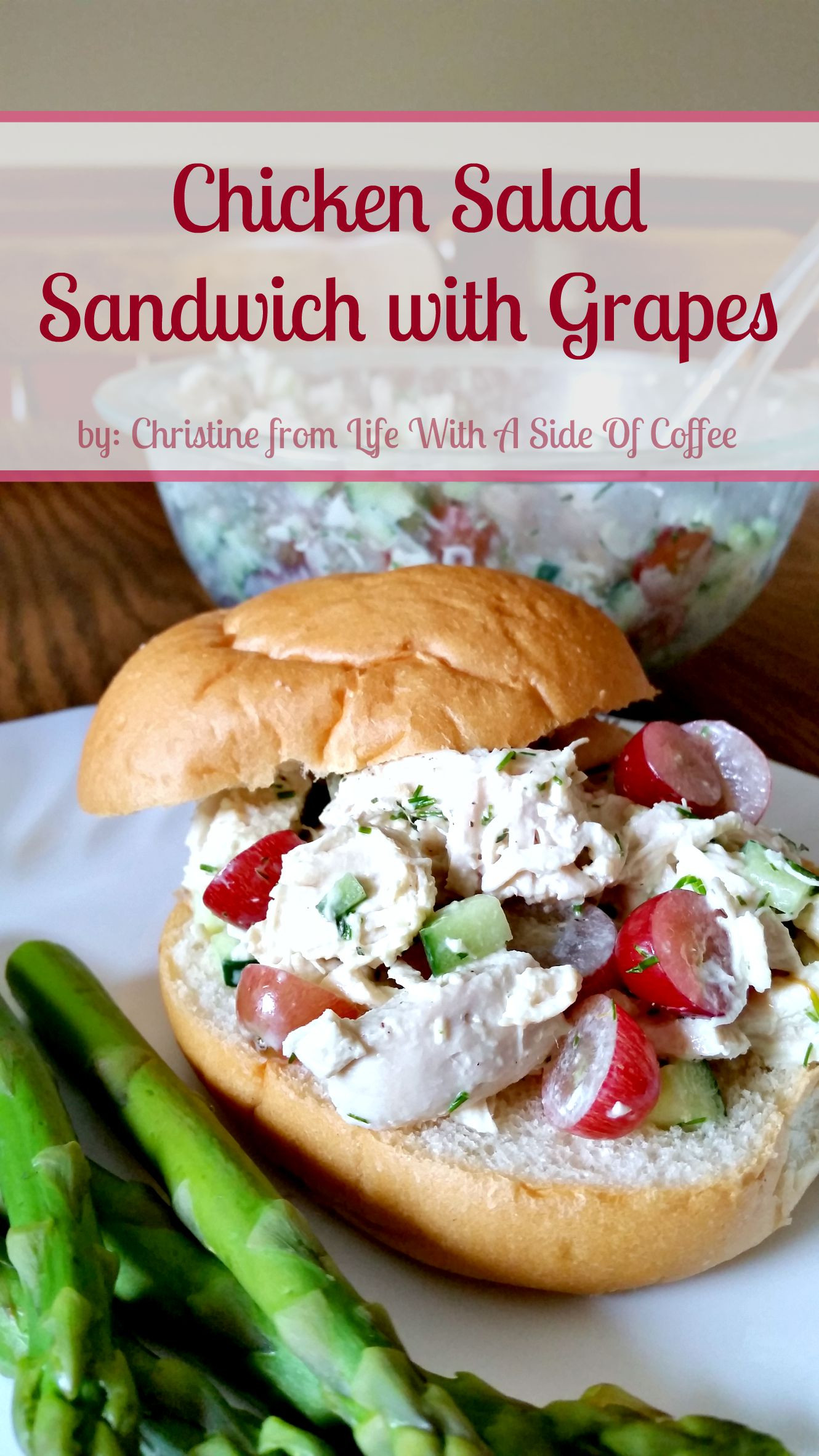 Chicken Salad Sandwich With Grapes  Chicken Salad Sandwich with Grapes