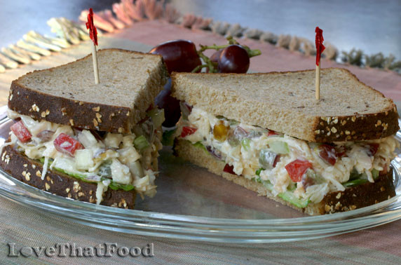 Chicken Salad Sandwich With Grapes  Chicken Salad Sandwich with Grapes Recipe with Picture