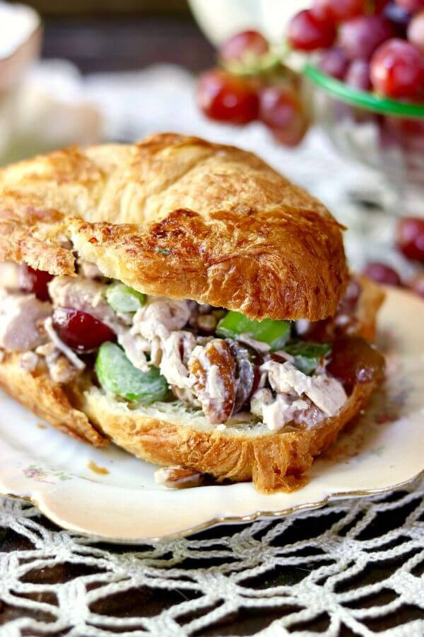 Chicken Salad Sandwich With Grapes  Chicken Salad Sandwich SundaySupper