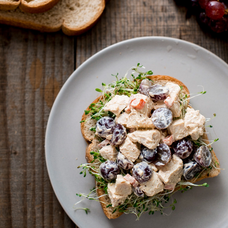 Chicken Salad Sandwich With Grapes  Chicken and Grape Salad Sandwich Recipe Todd Porter and