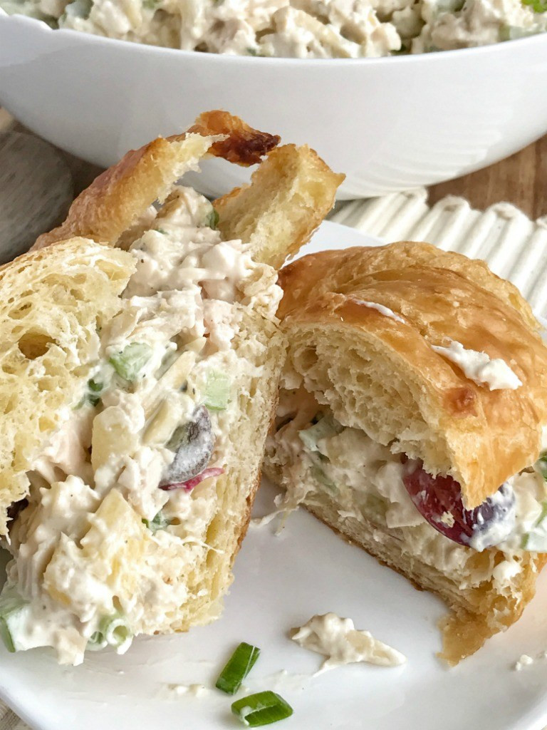 Chicken Salad Sandwich With Grapes  Pineapple Chicken Salad Sandwiches To her as Family