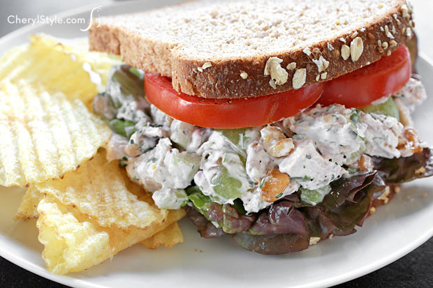 Chicken Salad Sandwich With Grapes  Tarragon chicken salad Everyday Dishes