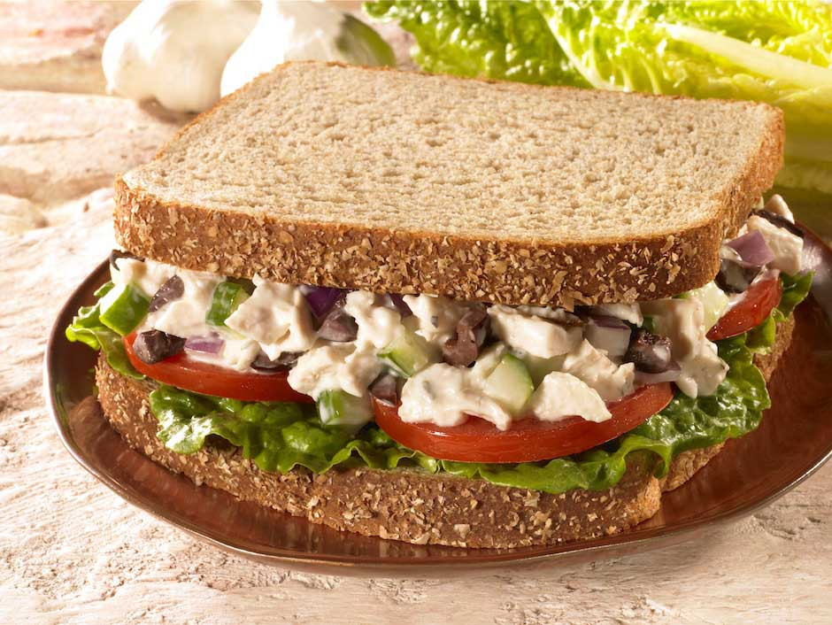 Chicken Salad Sandwiches  Greek Chicken Salad Sandwiches
