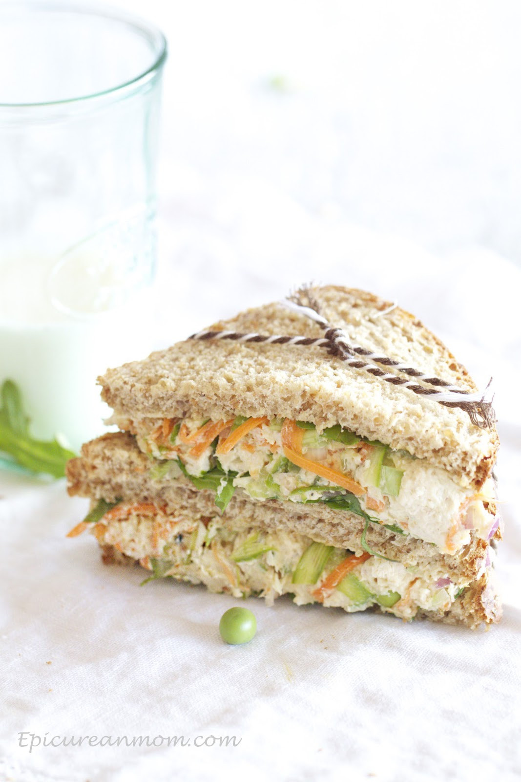 Chicken Salad Sandwiches  Epicurean Mom Healthy Chicken Salad Sandwich Recipe