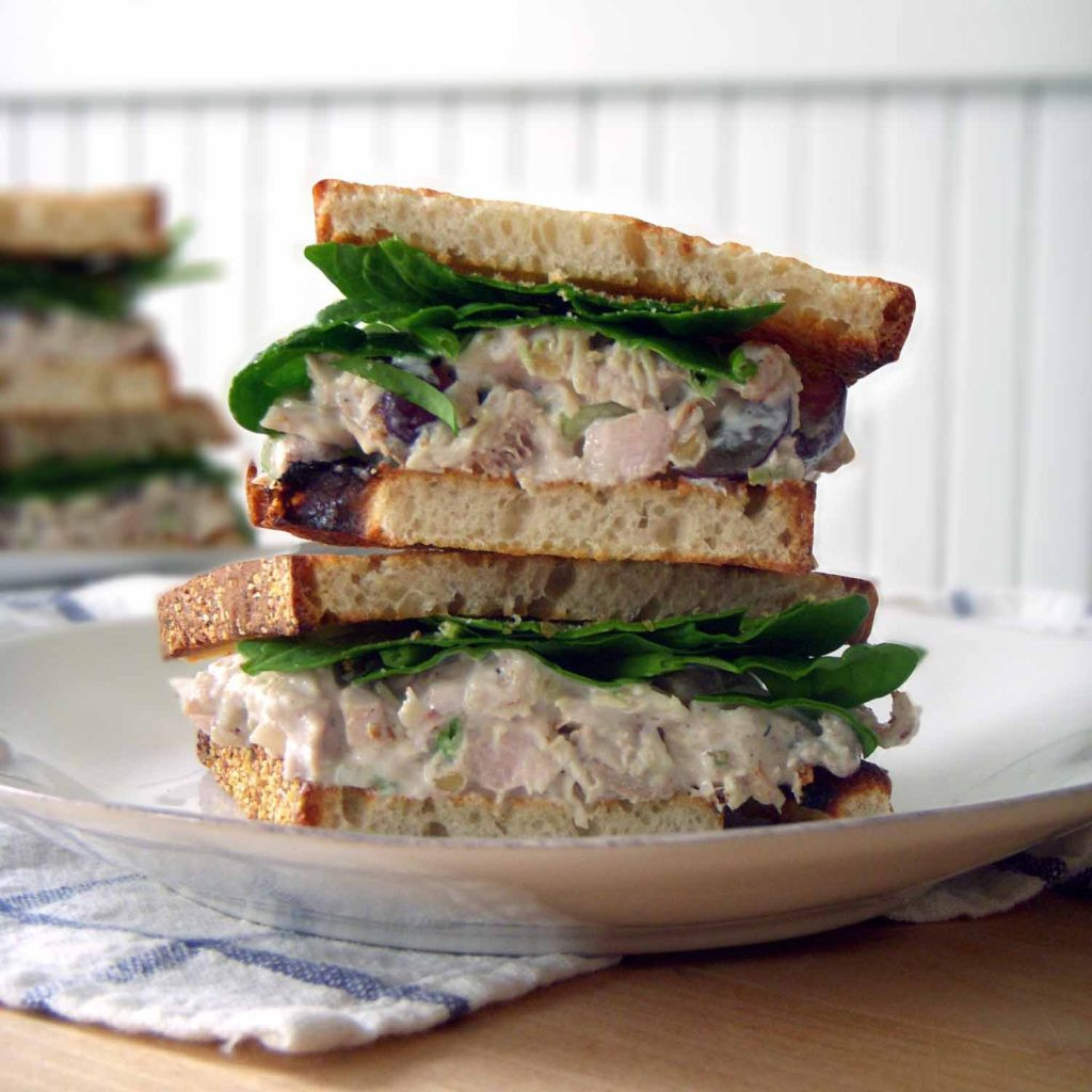 Chicken Salad Sandwiches  Awesome Chicken Salad with grapes and walnuts