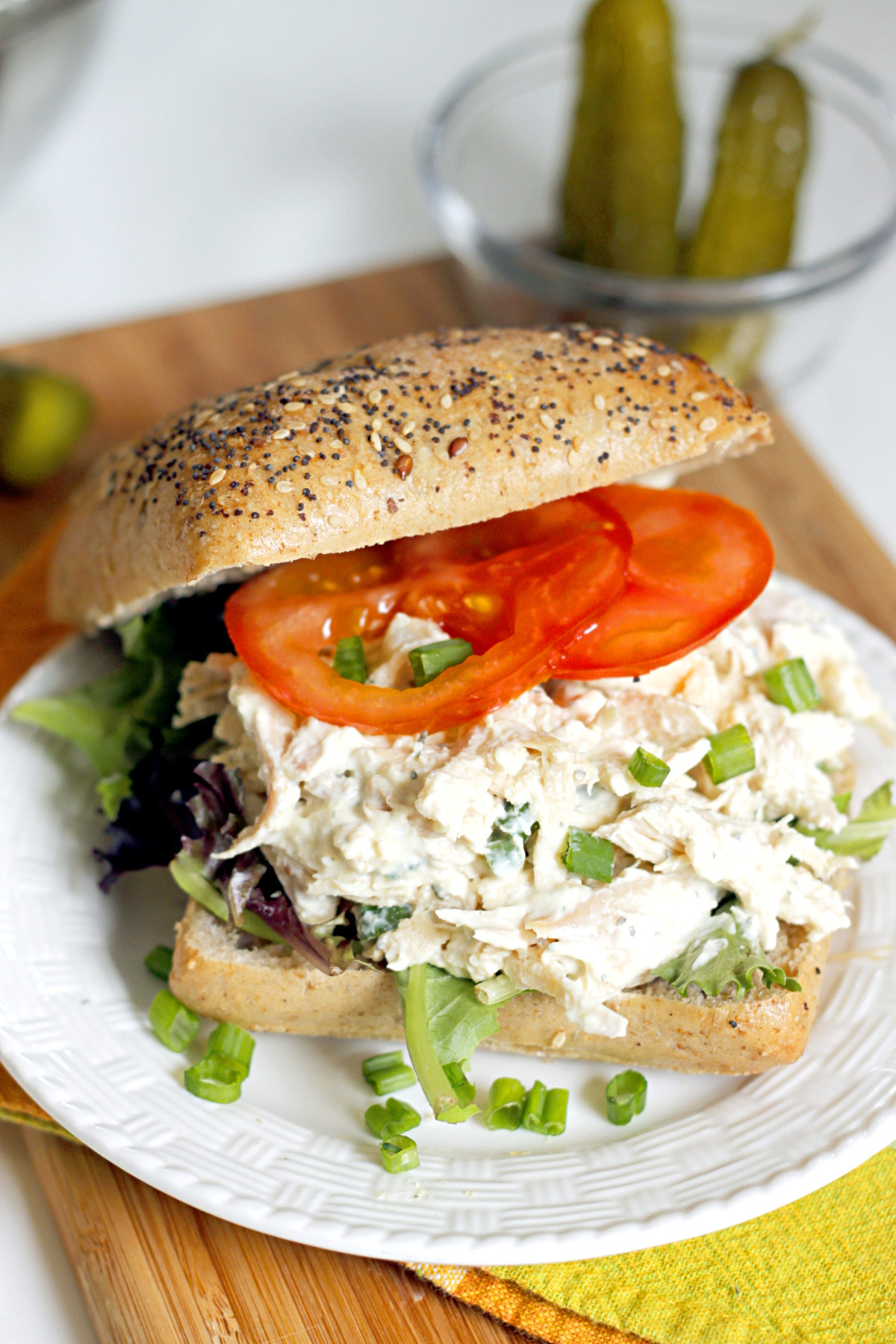 Chicken Salad Sandwiches  Lighter Ranch Chicken Salad Sandwich Belle Vie