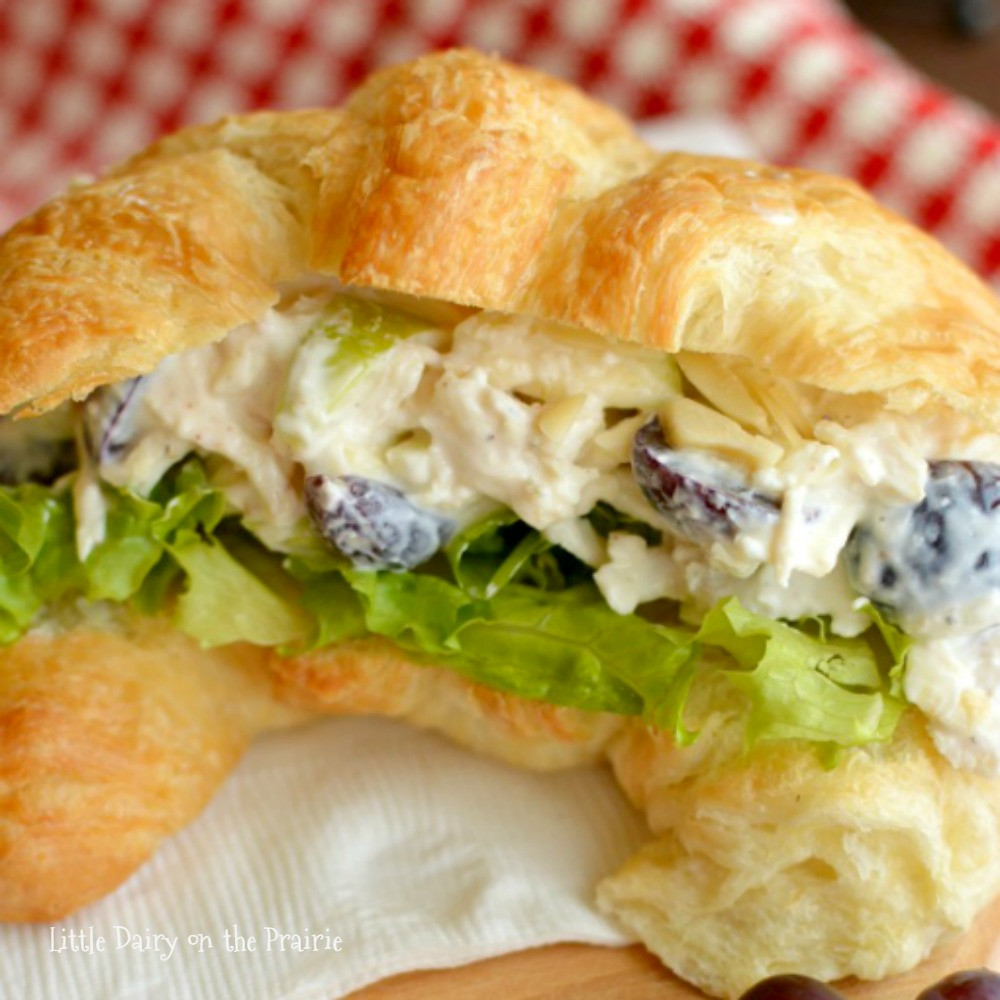 Chicken Salad Sandwiches  Greek Yogurt Chicken Salad Sandwiches Little Dairy