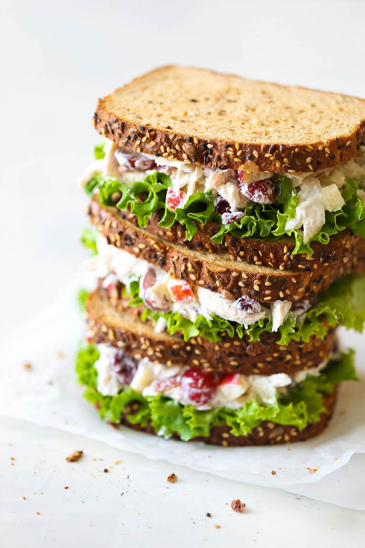 Chicken Salad Sandwiches  50 Healthy Lunches That Will Get You Through The Work Day