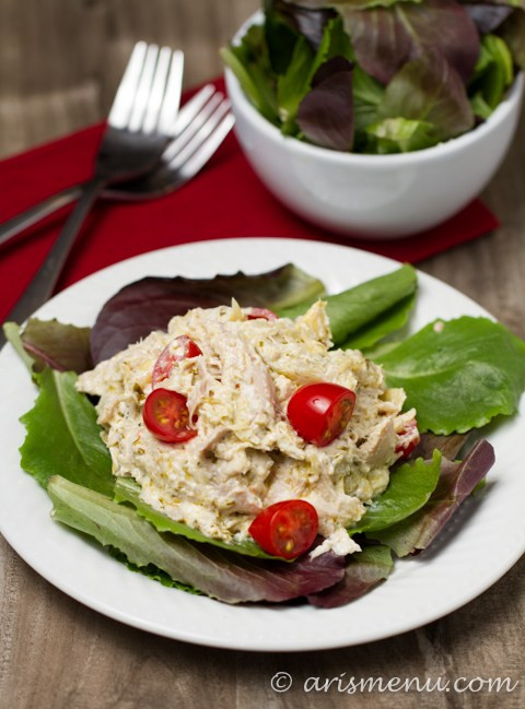 Chicken Salad Without Mayo  Pesto Chicken Salad without mayo Ari s Menu