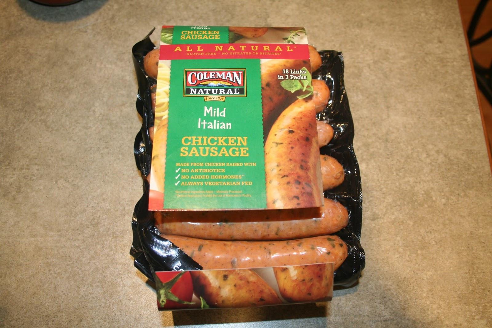 Chicken Sausage Brands  Chronicles A Gluten Free Life Gluten Free Spiral Pasta