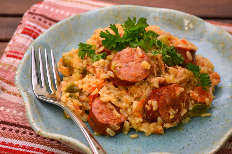 Chicken Sausage Jambalya  K&K Test Kitchen Chicken and Sausage Jambalaya