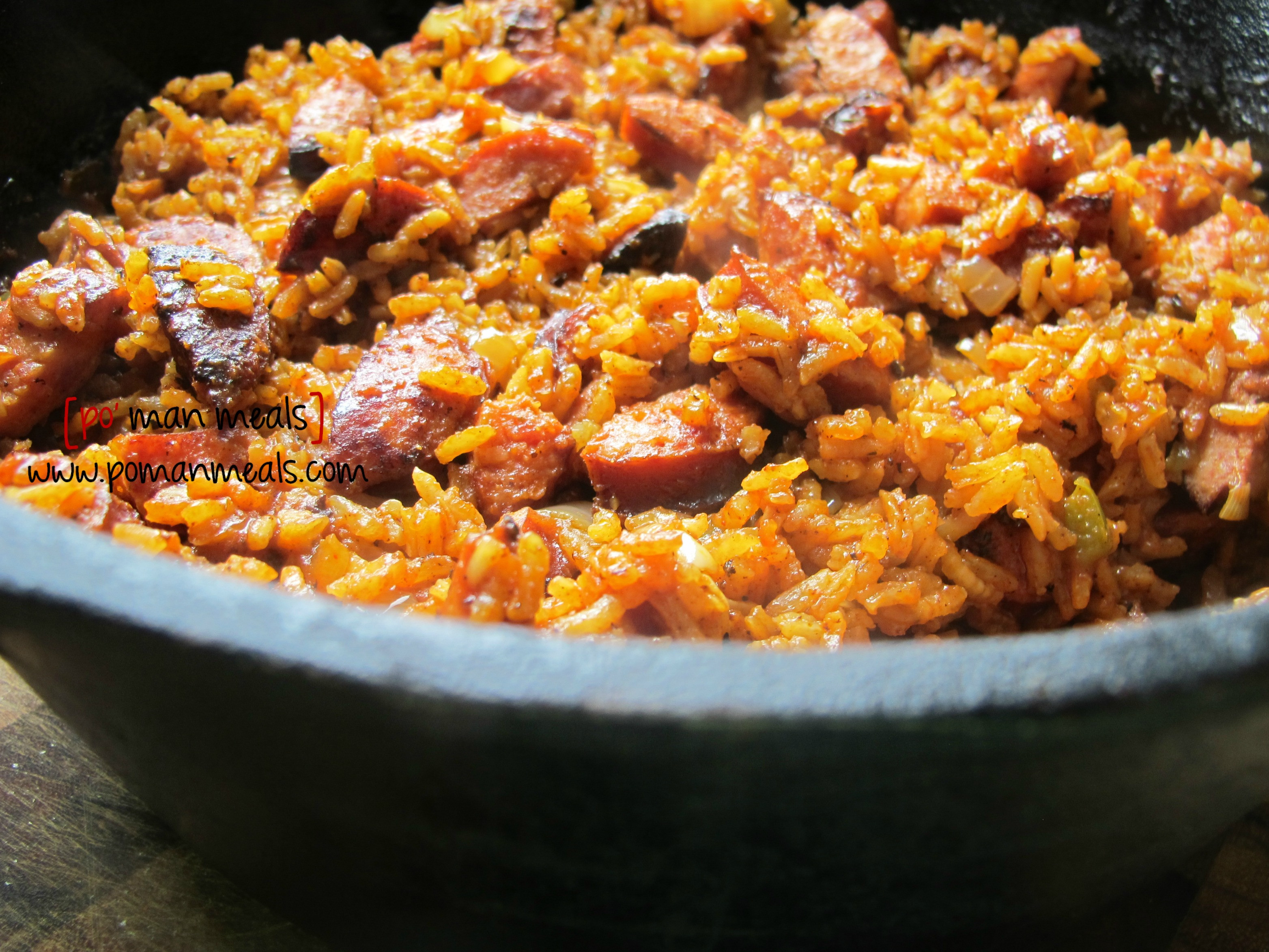 Chicken Sausage Jambalya  po man meals sausage jambalaya