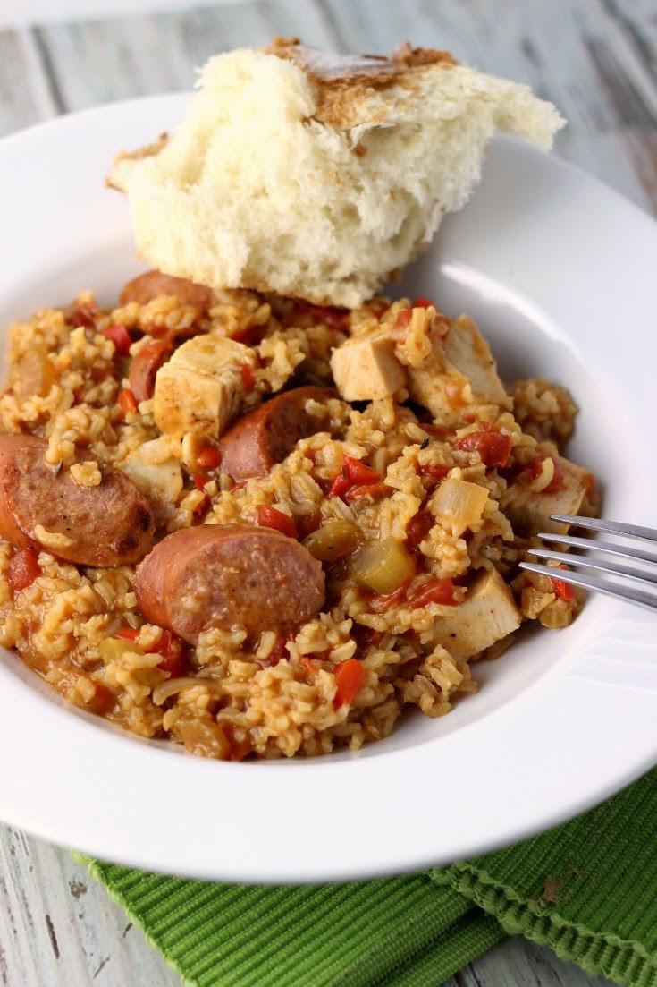 Chicken Sausage Jambalya  Chicken and Sausage Jambalaya