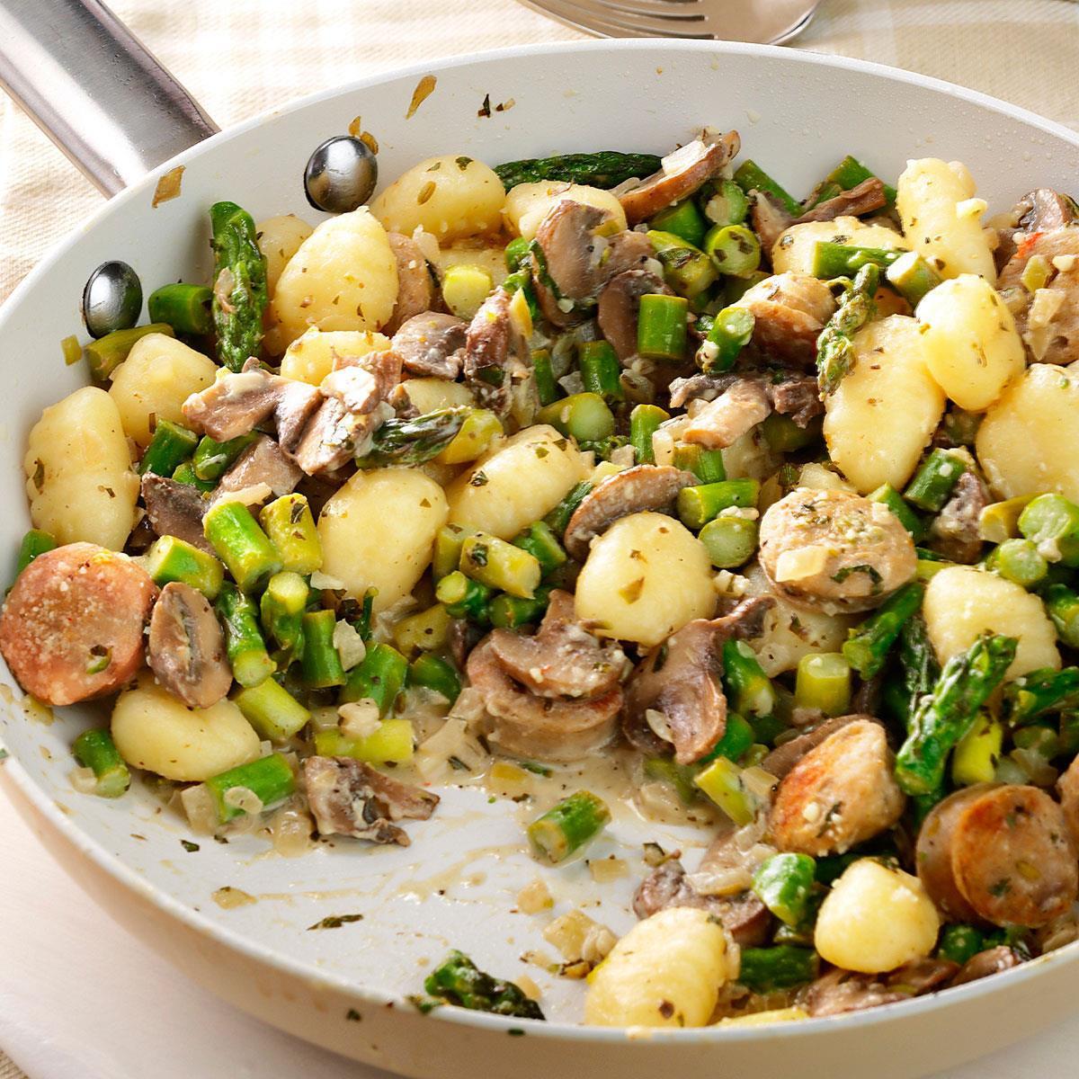 Chicken Sausage Recipes  Chicken Sausage & Gnocchi Skillet Recipe