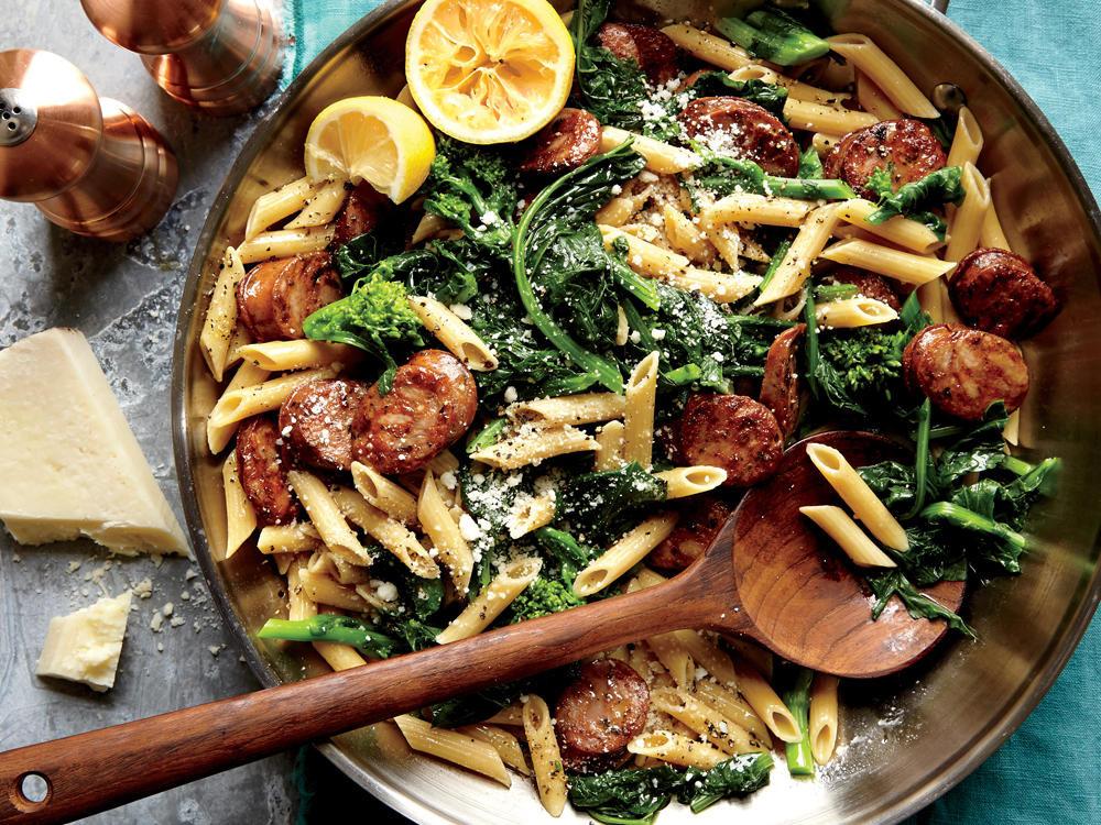 Chicken Sausage Recipes  Chicken Sausage and Broccoli Rabe Penne Recipe