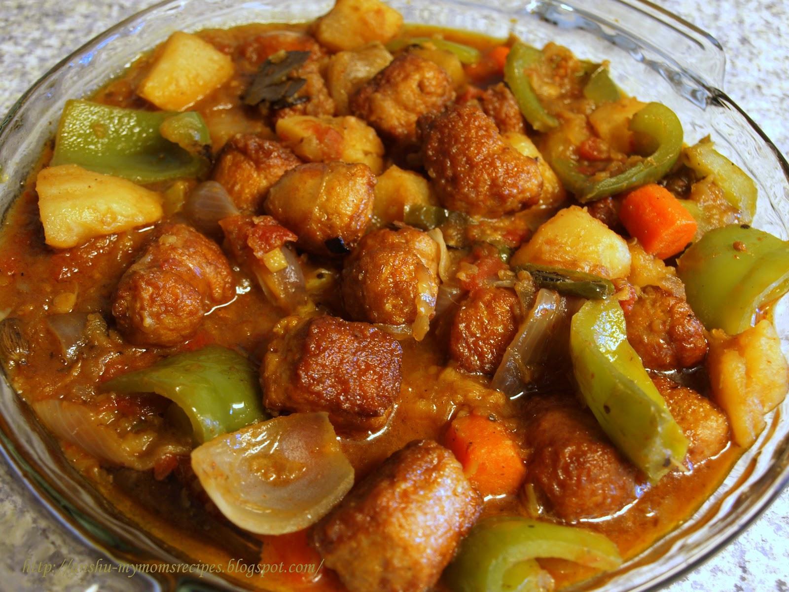 Chicken Sausage Recipes  MY MOM S RECIPES Chicken Sausage Curry