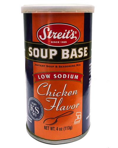 Chicken Soup Base  Low Sodium Chicken Soup Base Streits Matzos