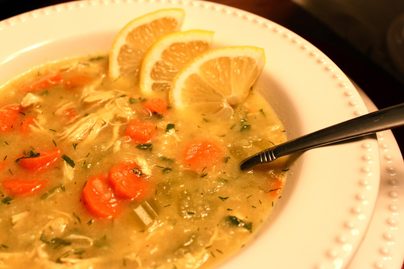 Chicken Soup With Rice  Explore Love Eat Curried Chicken and Rice Soup with Lemon